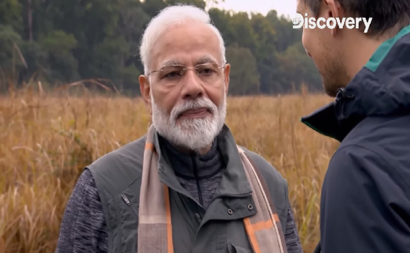 Image result for man vs wild narendra modi