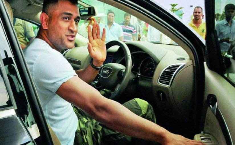 MS Dhoni sitting in a car | file photo