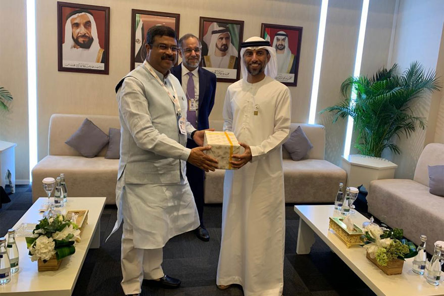 Dharmendra Pradhan meets UAE Minister of Energy, says countries need to work together to achieve energy security