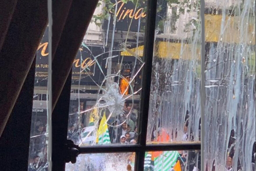 United Kingdom: Some anti-social elements pelted stones the Indian High Commission in London on Wednesday, September 3, 2019.