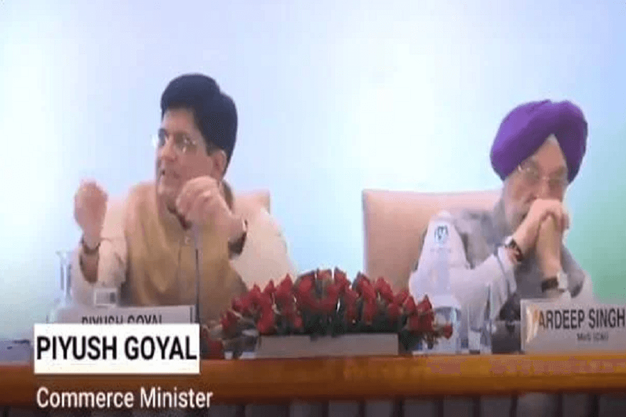Union Minister Piyush Goyal and Hardip Singh Puri
